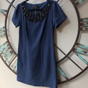 🖤Laundry brand accented blue corporate dress